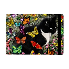 Freckles In Butterflies I, Black White Tux Cat Apple Ipad Mini Flip Case by DianeClancy