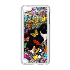 Freckles In Butterflies I, Black White Tux Cat Apple Ipod Touch 5 Case (white) by DianeClancy