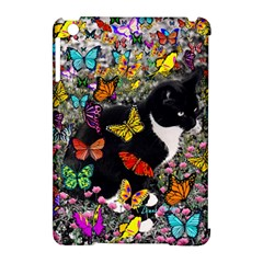 Freckles In Butterflies I, Black White Tux Cat Apple Ipad Mini Hardshell Case (compatible With Smart Cover) by DianeClancy