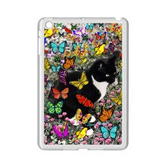 Freckles In Butterflies I, Black White Tux Cat Ipad Mini 2 Enamel Coated Cases by DianeClancy