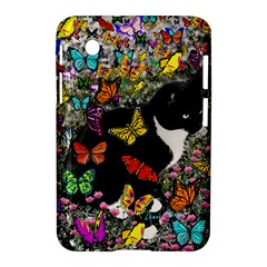 Freckles In Butterflies I, Black White Tux Cat Samsung Galaxy Tab 2 (7 ) P3100 Hardshell Case  by DianeClancy