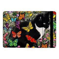 Freckles In Butterflies I, Black White Tux Cat Samsung Galaxy Tab Pro 10 1  Flip Case by DianeClancy