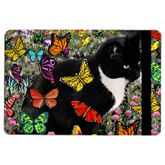 Freckles In Butterflies I, Black White Tux Cat Ipad Air 2 Flip by DianeClancy