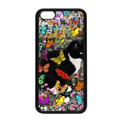 Freckles In Butterflies I, Black White Tux Cat Apple Iphone 5c Seamless Case (black) by DianeClancy