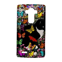 Freckles In Butterflies I, Black White Tux Cat Lg G4 Hardshell Case by DianeClancy