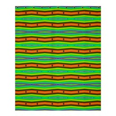 Bright Green Orange Lines Stripes Shower Curtain 60  X 72  (medium)  by BrightVibesDesign