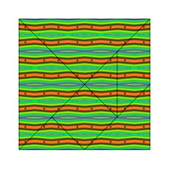 Bright Green Orange Lines Stripes Acrylic Tangram Puzzle (6  X 6 ) by BrightVibesDesign
