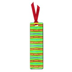 Bright Green Orange Lines Stripes Small Book Marks by BrightVibesDesign