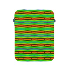 Bright Green Orange Lines Stripes Apple Ipad 2/3/4 Protective Soft Cases by BrightVibesDesign
