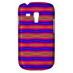 Bright Pink Purple Lines Stripes Samsung Galaxy S3 MINI I8190 Hardshell Case by BrightVibesDesign