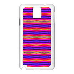 Bright Pink Purple Lines Stripes Samsung Galaxy Note 3 N9005 Case (white) by BrightVibesDesign