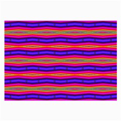 Bright Pink Purple Lines Stripes Large Glasses Cloth (2 Side) by BrightVibesDesign