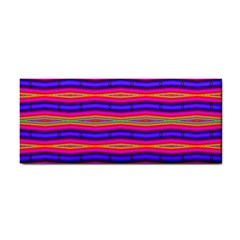 Bright Pink Purple Lines Stripes Hand Towel by BrightVibesDesign