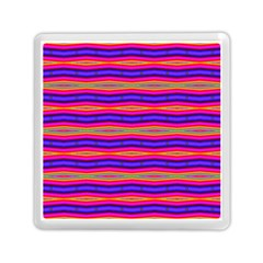 Bright Pink Purple Lines Stripes Memory Card Reader (square)  by BrightVibesDesign