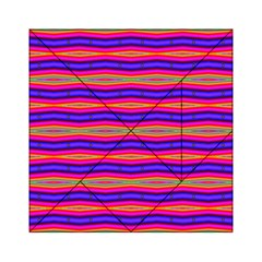 Bright Pink Purple Lines Stripes Acrylic Tangram Puzzle (6  X 6 ) by BrightVibesDesign