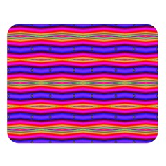 Bright Pink Purple Lines Stripes Double Sided Flano Blanket (large)  by BrightVibesDesign