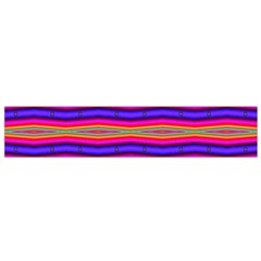 Bright Pink Purple Lines Stripes Flano Scarf (Small)  by BrightVibesDesign