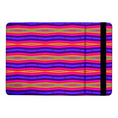 Bright Pink Purple Lines Stripes Samsung Galaxy Tab Pro 10 1  Flip Case by BrightVibesDesign