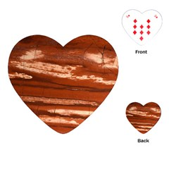 Red Earth Natural Playing Cards (heart)  by UniqueCre8ion