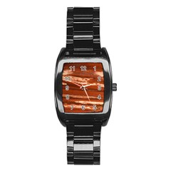 Red Earth Natural Stainless Steel Barrel Watch by UniqueCre8ion
