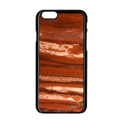Red Earth Natural Apple Iphone 6/6s Black Enamel Case by UniqueCre8ion