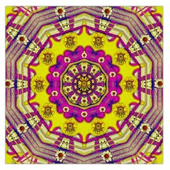 Celebrating Summer In Soul And Mind Mandala Style Large Satin Scarf (square) by pepitasart