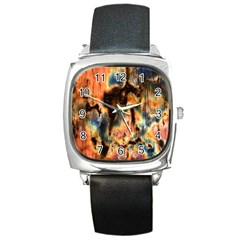 Naturally True Colors  Square Metal Watch by UniqueCre8ions