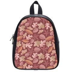Marsala Leaves Pattern School Bags (small)  by sifis