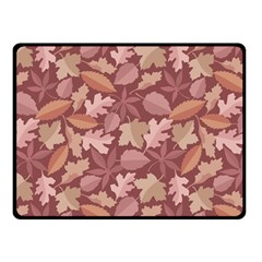 Marsala Leaves Pattern Double Sided Fleece Blanket (small)  by sifis