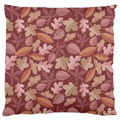 Marsala Leaves Pattern Standard Flano Cushion Case (two Sides) by sifis
