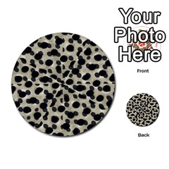 Metallic Camouflage Multi Purpose Cards (round)  by dflcprints