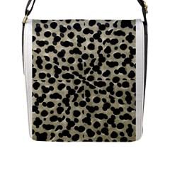 Metallic Camouflage Flap Messenger Bag (l)  by dflcprints