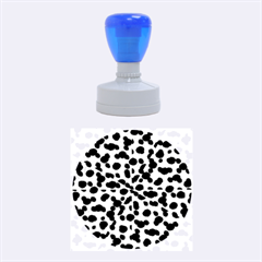 Metallic Camouflage Rubber Round Stamps (medium) by dflcprints