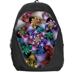 Bright Taffy Spiral Backpack Bag by WolfepawFractals