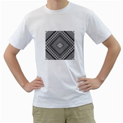 Geometric Pattern Vector Illustration Myxk9m   Men s T Shirt (white) (two Sided) by dsgbrand