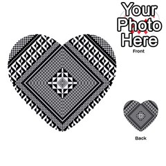 Geometric Pattern Vector Illustration Myxk9m   Multi Purpose Cards (heart)  by dsgbrand
