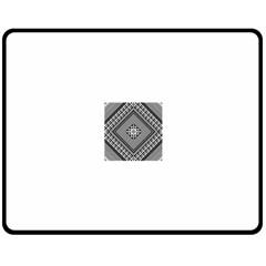 Geometric Pattern Vector Illustration Myxk9m   Double Sided Fleece Blanket (medium)  by dsgbrand