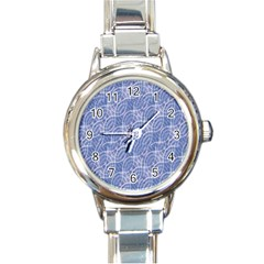 Modern Abstract Geometric Round Italian Charm Watch by dflcprints