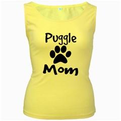 Puggle Mom Women s Yellow Tank Top by LokiDesigns