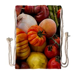 Heirloom Tomatoes Drawstring Bag (large) by MichaelMoriartyPhotography