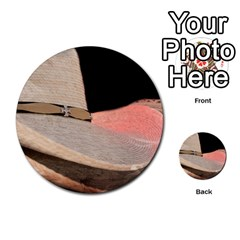 Straw Hats Multi Purpose Cards (round)  by MichaelMoriartyPhotography