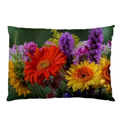 Colorful Flowers Pillow Case by MichaelMoriartyPhotography