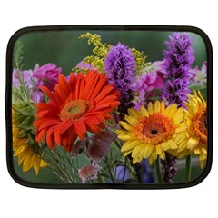Colorful Flowers Netbook Case (XL)  by MichaelMoriartyPhotography