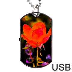 Red Beauty Dog Tag USB Flash (One Side) by MichaelMoriartyPhotography