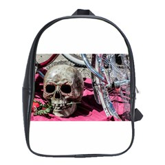 Skull And Bike School Bags (xl)  by MichaelMoriartyPhotography