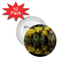 Cactus Flowers With Reflection Pool 1 75  Buttons (10 Pack) by MichaelMoriartyPhotography
