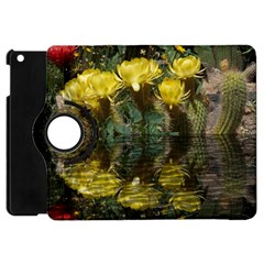 Cactus Flowers With Reflection Pool Apple Ipad Mini Flip 360 Case by MichaelMoriartyPhotography