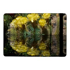 Cactus Flowers With Reflection Pool Samsung Galaxy Tab Pro 10 1  Flip Case by MichaelMoriartyPhotography
