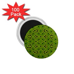 Geometric African Print 1 75  Magnets (100 Pack)  by dflcprints