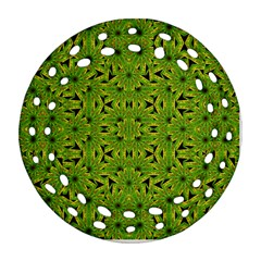 Geometric African Print Ornament (round Filigree)  by dflcprints